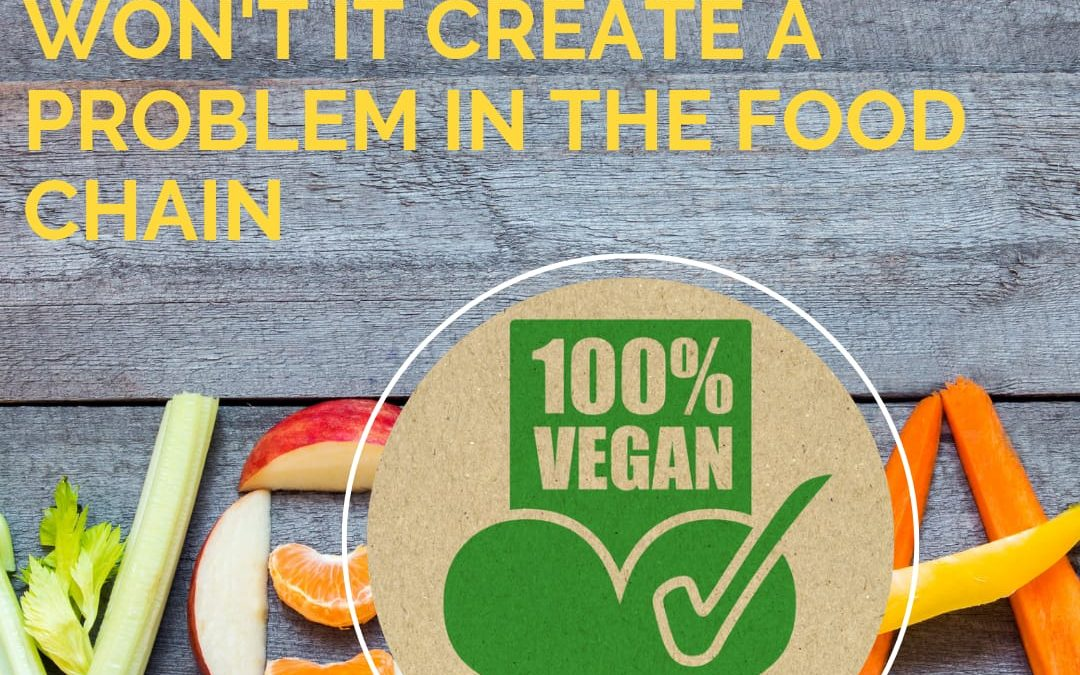 If Every Human on Earth Turns Vegan, Won't it Create a Problem in the Food Chain?